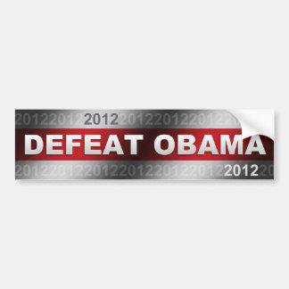 Defeat Obama 2012 Car Bumper Sticker