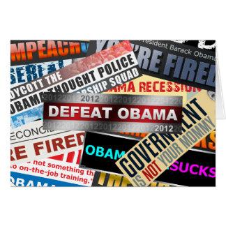 Defeat Obama 2012 Card