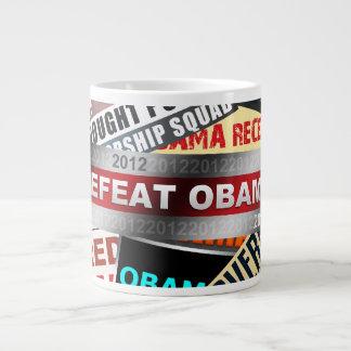 Defeat Obama 2012 Large Coffee Mug