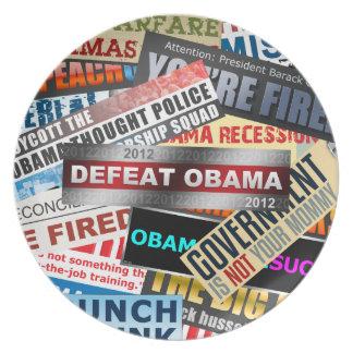 Defeat Obama 2012 Melamine Plate