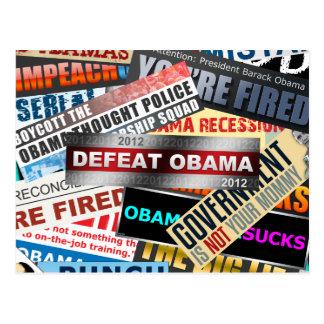 Defeat Obama 2012 Postcard