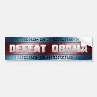 Defeat Obama Bumper Sticker Car Bumper Sticker