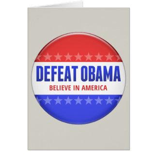 Defeat Obama Card
