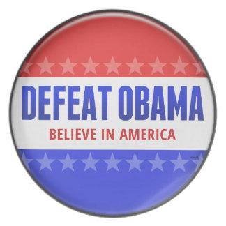 Defeat Obama Plate