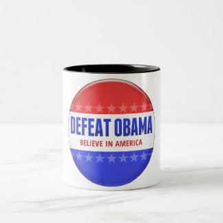 Defeat Obama Two-Tone Coffee Mug