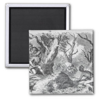 Defeat of General Braddock 2 Inch Square Magnet