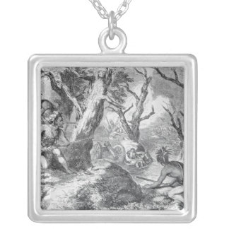 Defeat of General Braddock Silver Plated Necklace