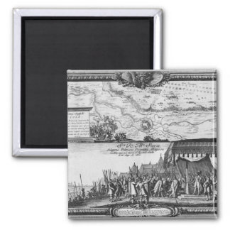 Defeat of the Polish army at Kola 2 Inch Square Magnet
