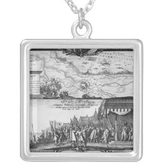Defeat of the Polish army at Kola Silver Plated Necklace