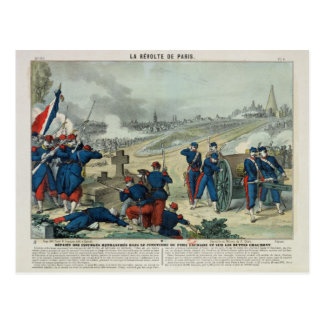 Defeat of the Rebels Entrenched in the Cemetery Postcard