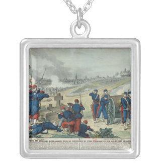 Defeat of the Rebels Entrenched in the Cemetery Silver Plated Necklace