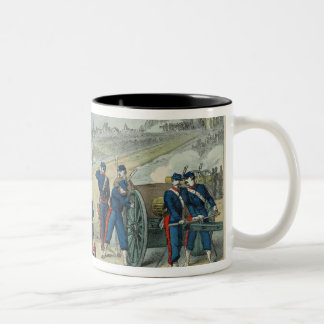 Defeat of the Rebels Entrenched in the Cemetery Two-Tone Coffee Mug