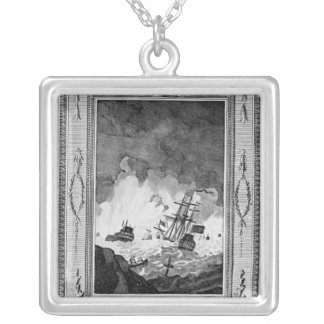 Defeat of the Spanish Armada Silver Plated Necklace
