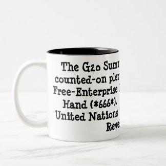 Defeat the antiChrist MUG! Two-Tone Coffee Mug