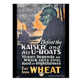 Defeat The Kaiser Postcard