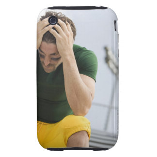 Defeated Football Player with Head in Hands iPhone 3 Tough Cover