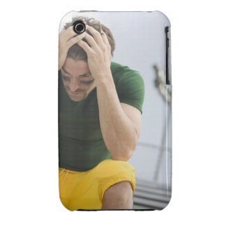 Defeated Football Player with Head in Hands Case-Mate iPhone 3 Cases
