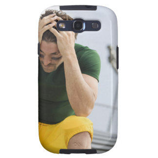 Defeated Football Player with Head in Hands Samsung Galaxy S3 Cover