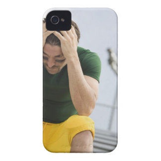 Defeated Football Player with Head in Hands Case-Mate iPhone 4 Cases