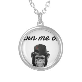 defect monkey silver plated necklace