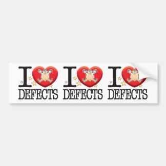 Defects Love Man Car Bumper Sticker