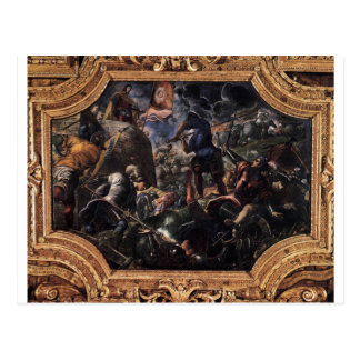 Defence of Brescia by Tintoretto Postcard