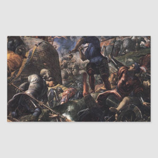 Defence of Brescia by Tintoretto Rectangular Sticker