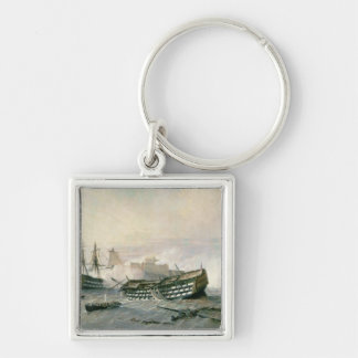 Defence of the Havana Promontory in 1762, c.1898 Silver-Colored Square Keychain