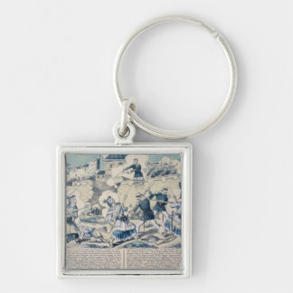 Defence of Tuyen Quang, 14th February 1885 Silver-Colored Square Keychain