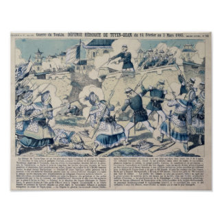 Defence of Tuyen Quang, 14th February 1885 Posters