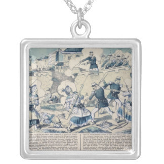 Defence of Tuyen Quang, 14th February 1885 Square Pendant Necklace