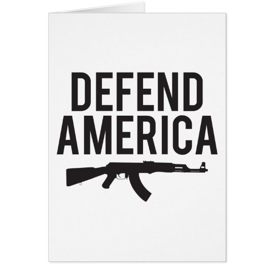 Defend America AK47 Card
