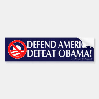 Defend America Defeat Obama Bumper Sticker