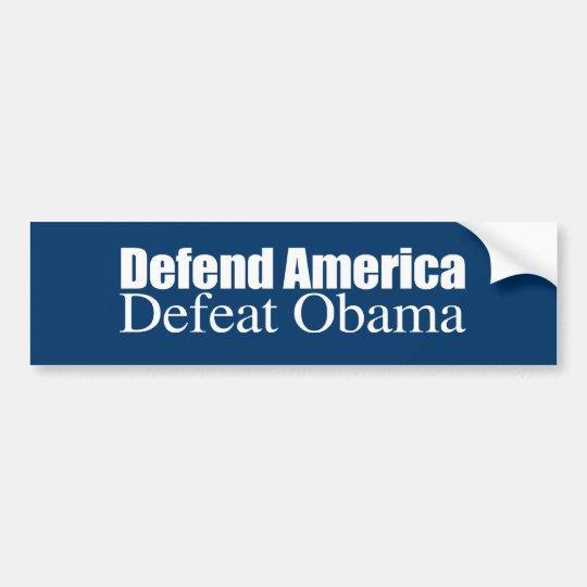DEFEND AMERICA DEFEAT OBAMA -.png Bumper Sticker