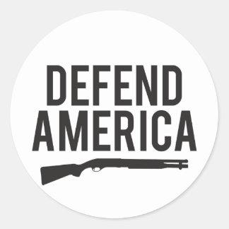 Defend America Shotgun Sticker