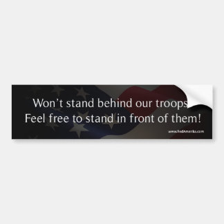 Defend America - Support Troops Car Bumper Sticker