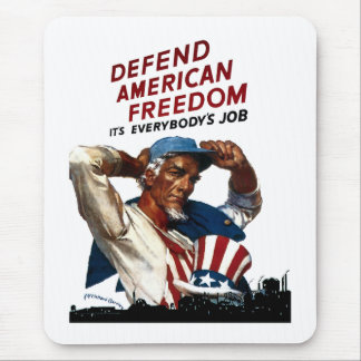 Defend American Freedom Mouse Pad