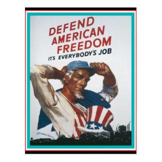 Defend American Freedom Postcard