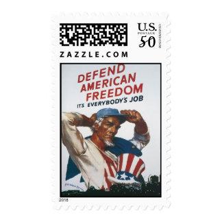 Defend American Freedom World War 2 Postage