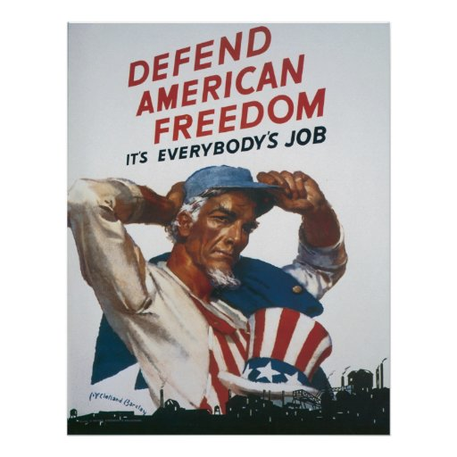Defend American Freedon Poster