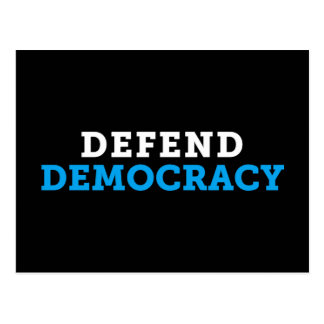 Defend Democracy Black Postcard