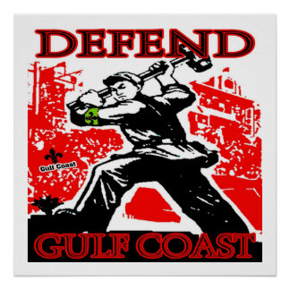 Defend Gulf Coast: Oil Spill Poster
