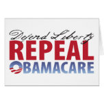 Defend Liberty Repeal Health Care Greeting Card