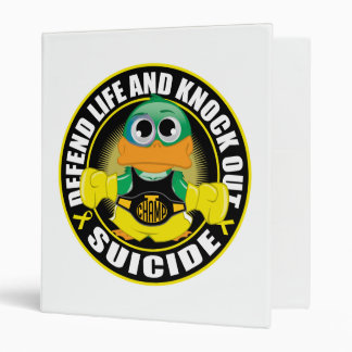 Defend Life and Knock Out Suicide 3 Ring Binder