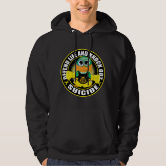Defend Life and Knock Out Suicide Hoodie
