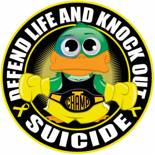Defend Life and Knock Out Suicide Photo Cutouts