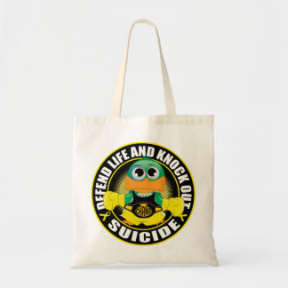 Defend Life and Knock Out Suicide Tote Bag
