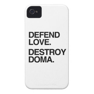 DEFEND LOVE DESTROY DOMA -.png Case-Mate iPhone 4 Cases