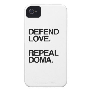 DEFEND LOVE REPEAL DOMA -.png iPhone 4 Case-Mate Cases