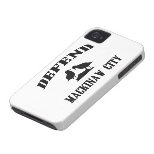 Defend Mackinaw City iPhone 4 Cover